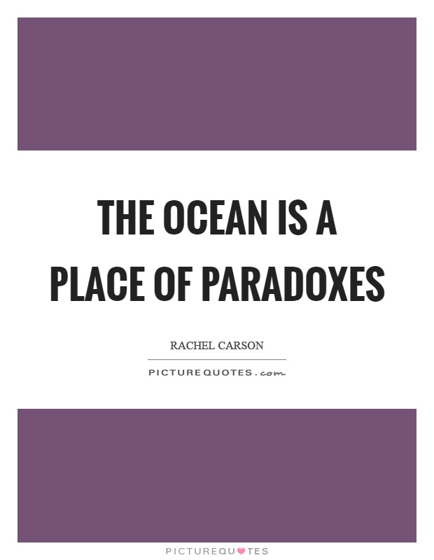 The ocean is a place of paradoxes Picture Quote #1
