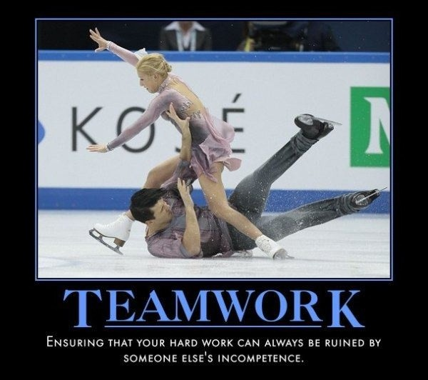 Funny Motivational Teamwork Quote 1 Picture Quote #1