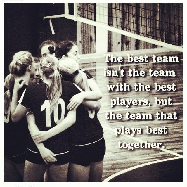 Teamwork Quote Volleyball 1 Picture Quote #1