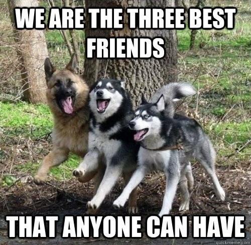 Three Best Friends Quote 1 Picture Quote #1