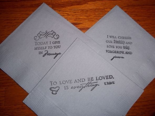 Wedding Quote For Napkins 1 Picture Quote #1