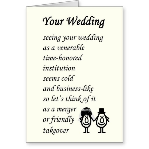 Funny Wedding Quote And Poems 1 Picture Quote #1