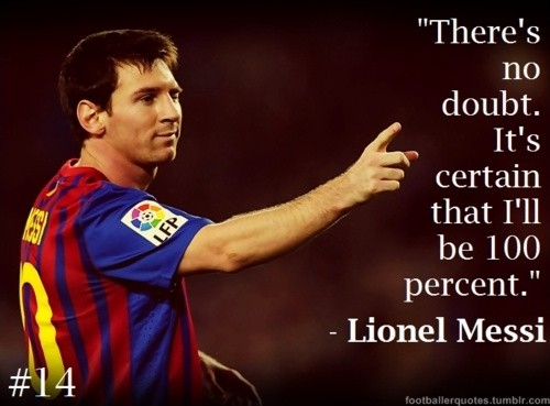 Messi Soccer Quote 2 Picture Quote #1
