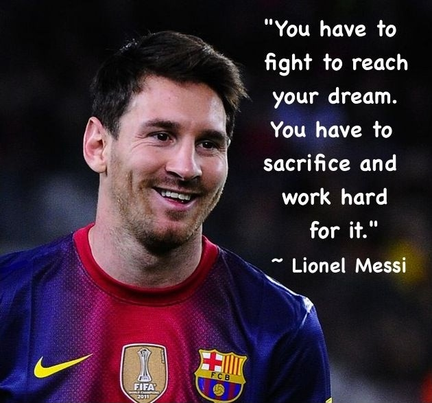 Messi Soccer Quote 3 Picture Quote #1