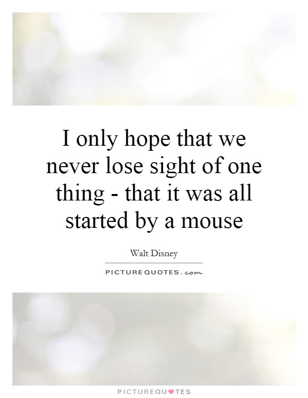 it all started with a mouse in disney font