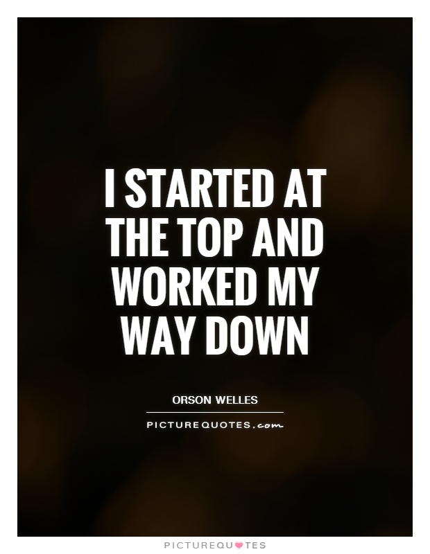 I started at the top and worked my way down Picture Quote #1