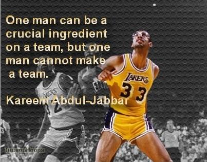 Basketball Quote Kareem Abdul Jabbar 2 Picture Quote #1