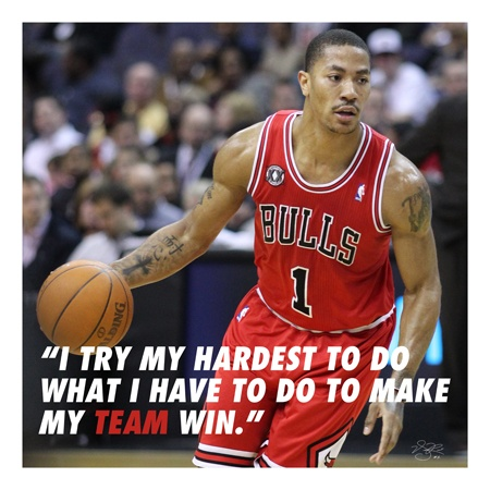 Basketball Quote Derrick Rose 2 Picture Quote #1