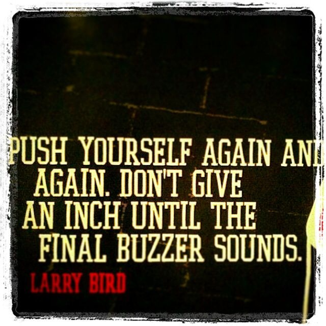 Larry Bird Basketball Quote 1 Picture Quote #1