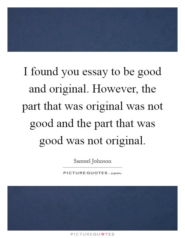 Start an essay with a quote