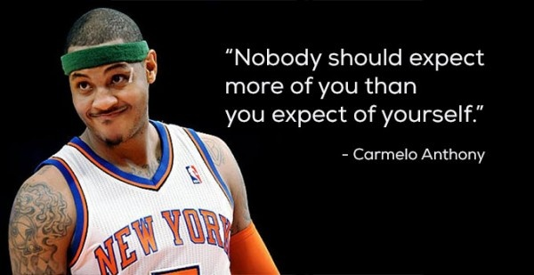 Carmelo Anthony Basketball Quote 1 Picture Quote #1