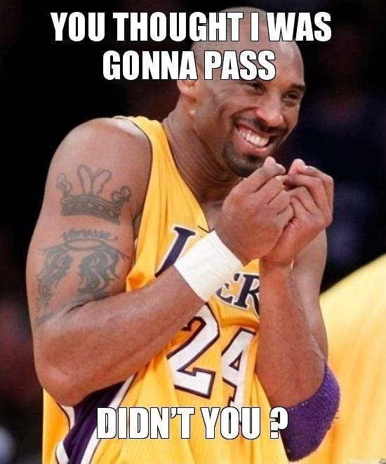 Funny Basketball Quote Kobe 1 Picture Quote #1