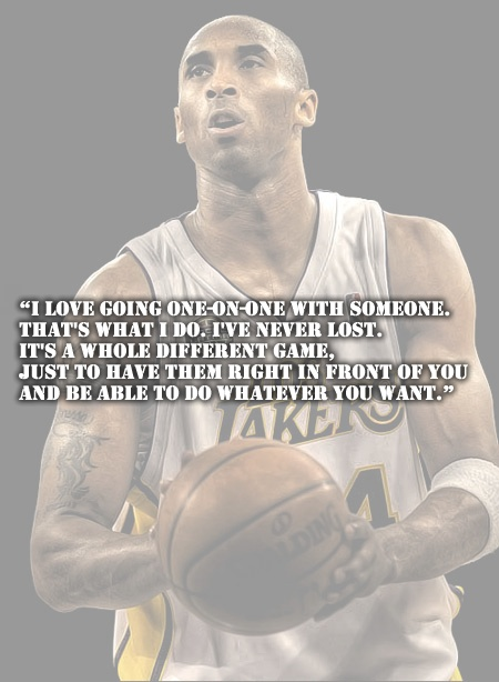 Famous Basketball Quote Kobe Bryant 1 Picture Quote #1