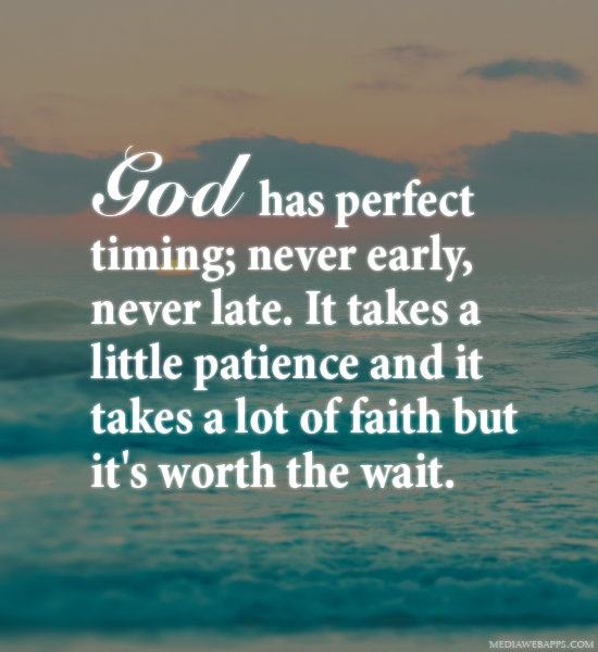 God Patience Quote 2 Picture Quote #1