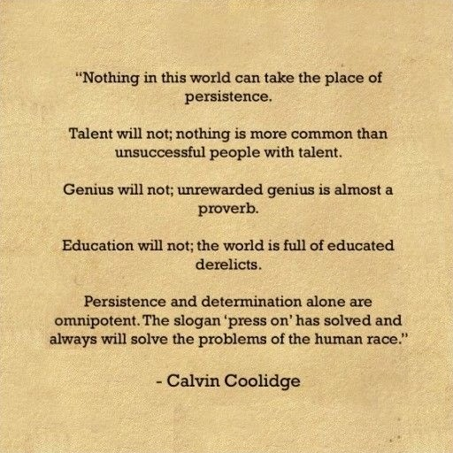 Perseverance Quote Coolidge 1 Picture Quote #1