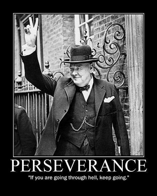 Winston Churchill Perseverance Quote 1 Picture Quote #1