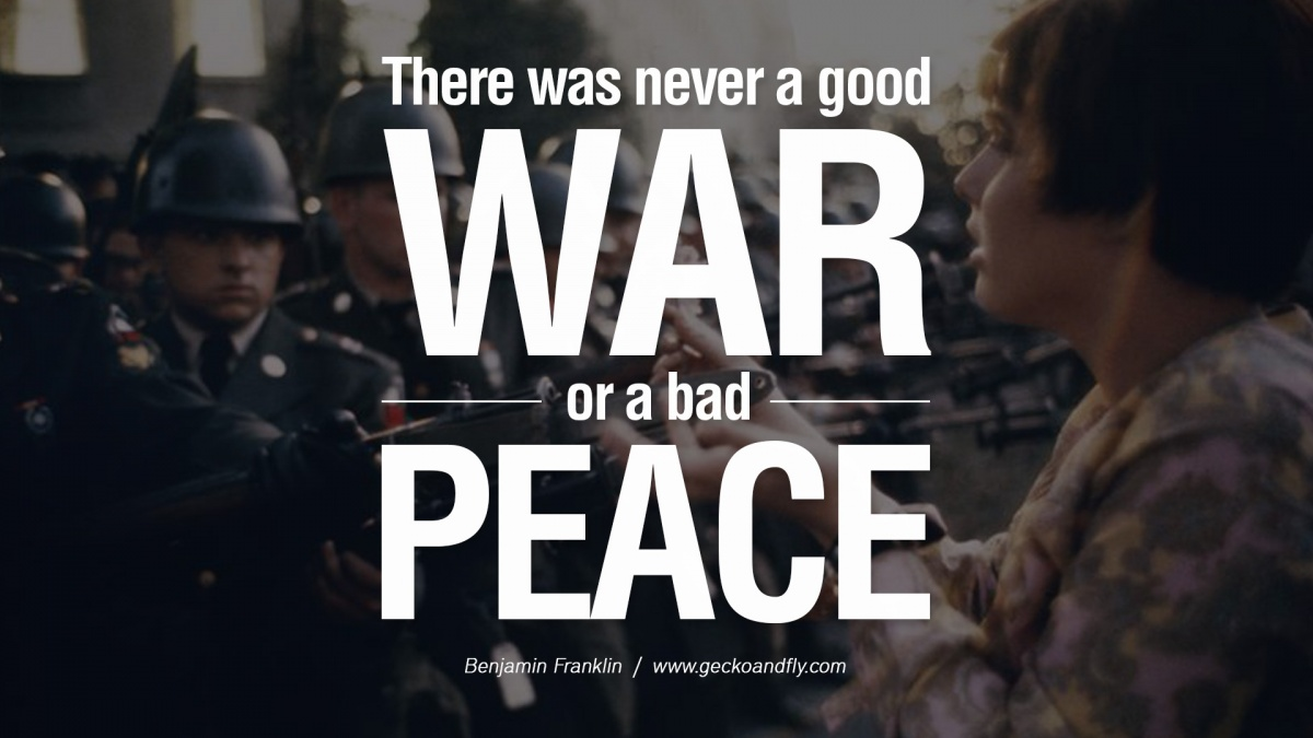 World Peace Quote Famous 1 Picture Quote #1