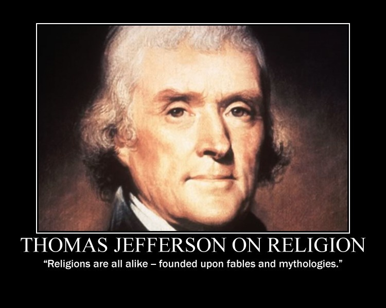Thomas Jefferson Quote On Religion 1 Picture Quote #1
