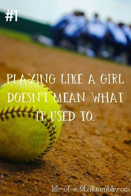 Softball Sports Quote For Girls 1 Picture Quote #1