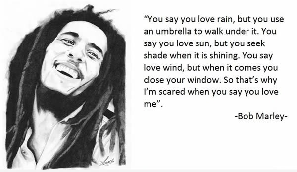 Bob Marley Quote About Love 1 Picture Quote #1
