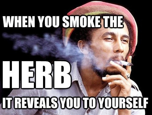 Bob Marley Smoking Quote 1 Picture Quote #1