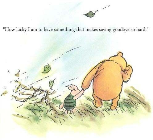 Positive Farewell Quote Winnie The Pooh 1 Picture Quote #1