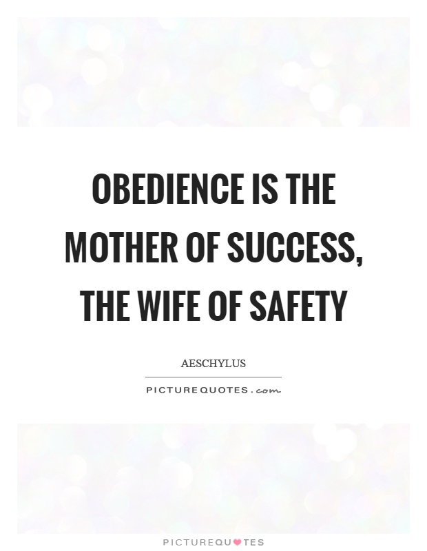 essay on obedience is the mother of success Obedience essay the milgram experiment - 564 words the milgram experiment the milgram study is a study of social obedience and human interaction with authority figures and conformity.