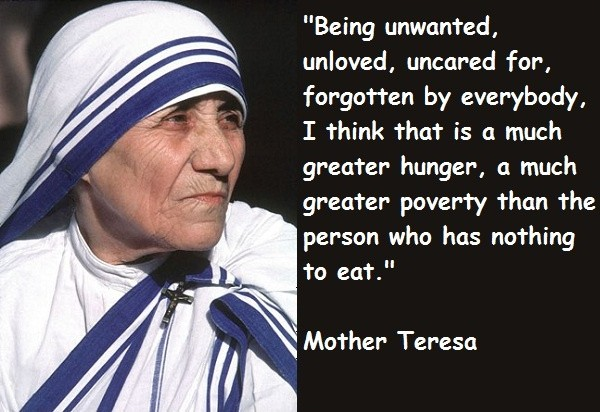 Mother Teresa On Loneliness Quote 1 Picture Quote #1