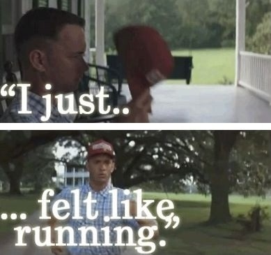 Forrest Gump Running Quote 1 Picture Quote #1