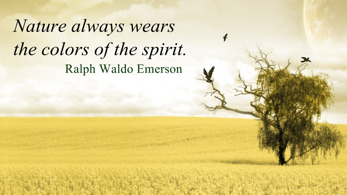 Ralph Waldo Emerson Nature Quote 1 Picture Quote #1