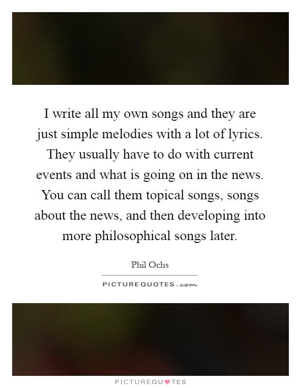 Help to write lyrics