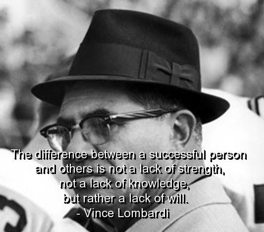 Vince Lombardi Quote On Success 1 Picture Quote #1