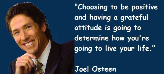 Joel Osteen Quote On Positive Thinking 1 Picture Quote #1