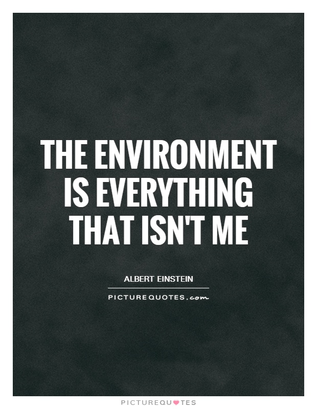 The environment is everything that isn't me Picture Quote #1