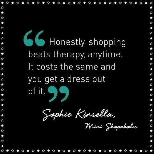Girly Quote About Shopping 1 Picture Quote #1