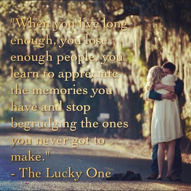 The lucky one quotes nicholas sparks