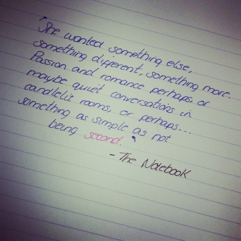From The Notebook Nicholas Sparks Quote 1 Picture Quote #1