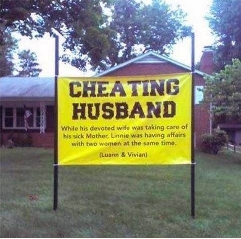 Funny Cheating Quote 1 Picture Quote #1