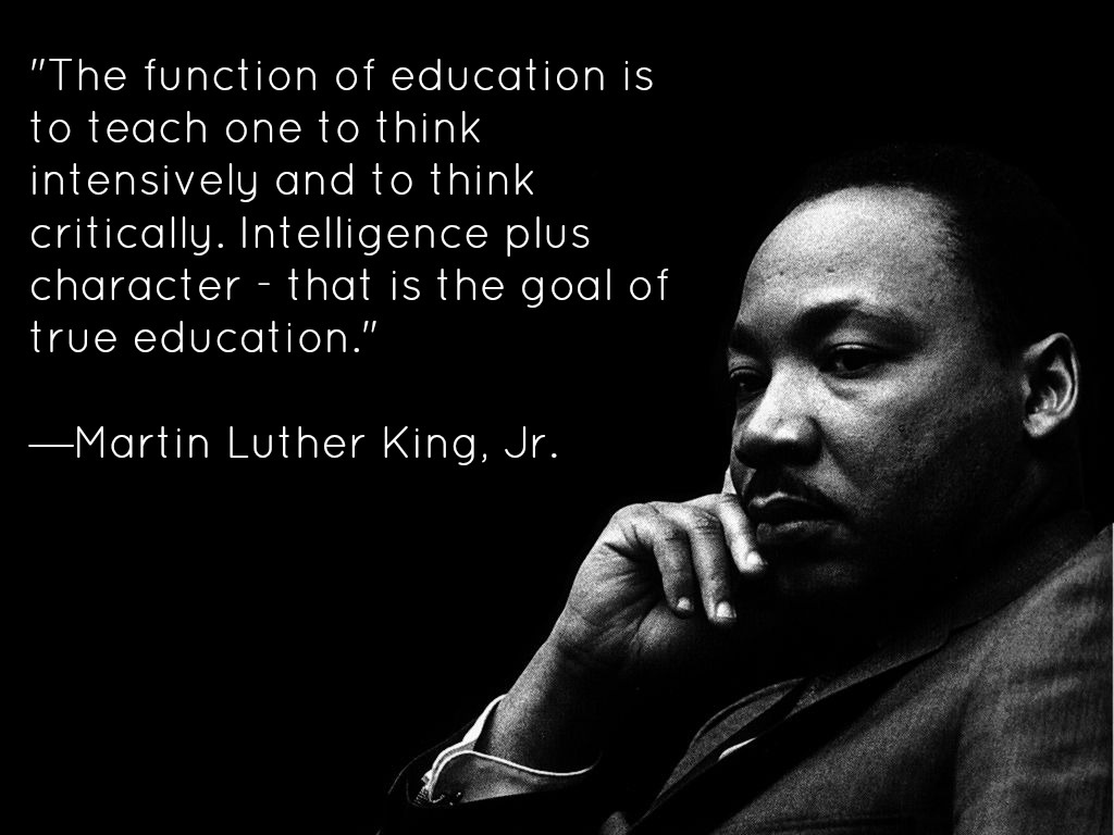Martin Luther King Jr Quote On Education 1 Picture Quote #1