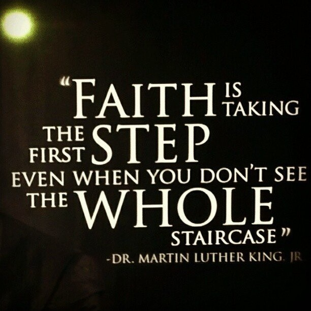 Martin Luther King Jr Quote Faith 1 Picture Quote #2