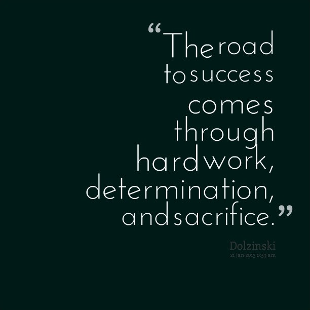 Hard Work And Success Quote 1 Picture Quote #1