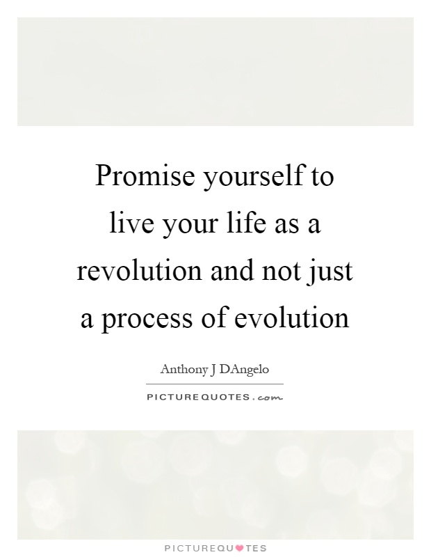 Just Live Your Life Quotes: Promise Yourself To Live Your Life As A Revolution And Not