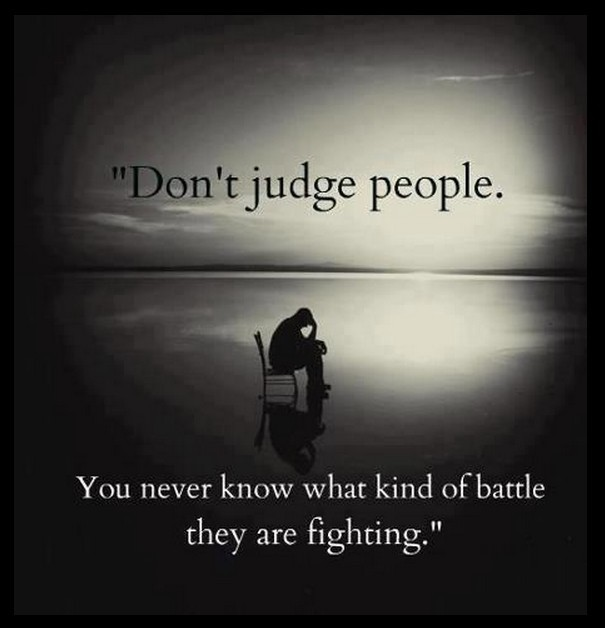 Deep Quote About Judging People 1 Picture Quote #1