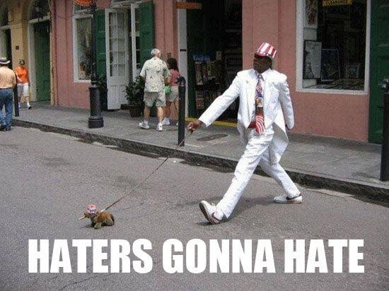 Haters Gonna Hate Quote 1 Picture Quote #2