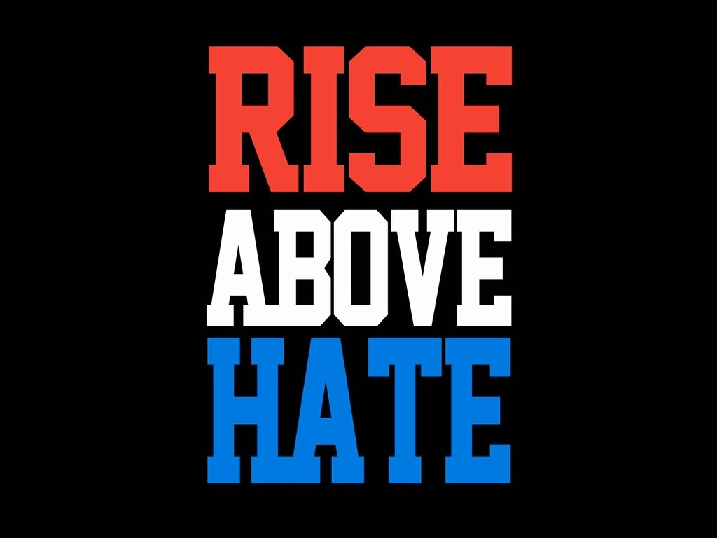 Rise Above Hate Quote 1 Picture Quote #1