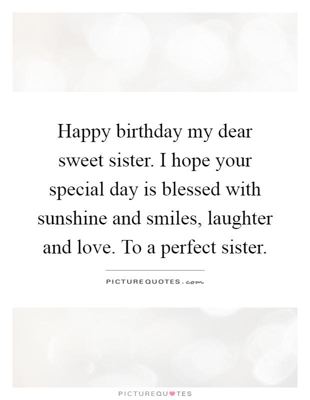 Happy Birthday Sister Quotes Sayings Happy Birthday Sister