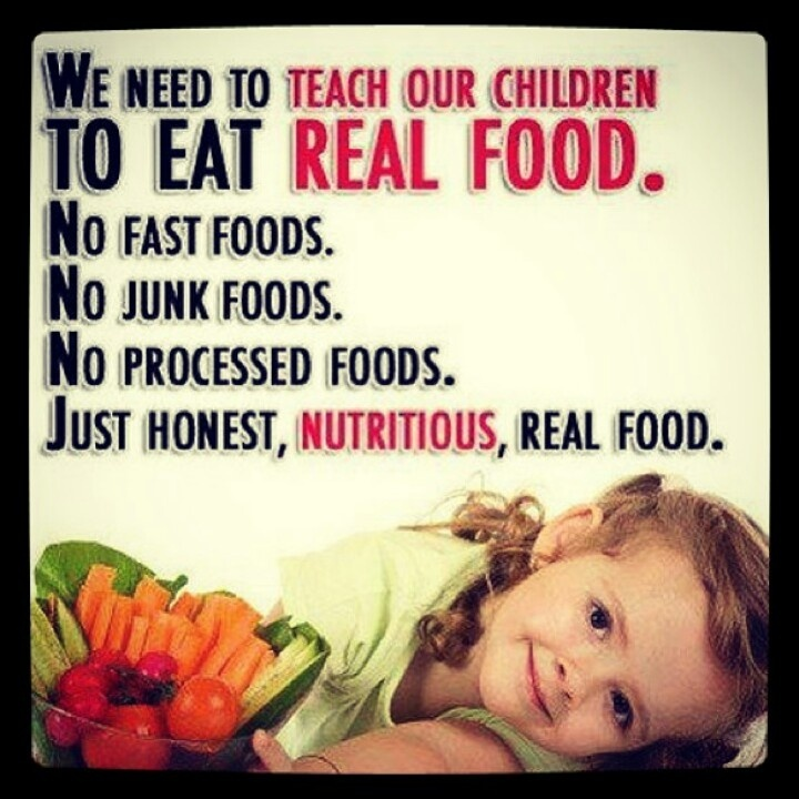 Real Food Quote 1 Picture Quote #1