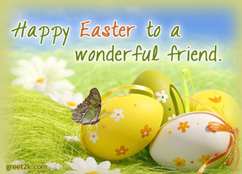 Happy Easter Quote For Friends 1 Picture Quote #1