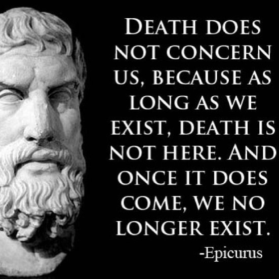 Epicurus Philosophy Quote 1 Picture Quote #1