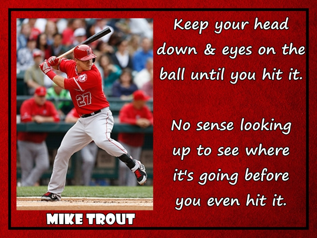 Mike Trout Baseball Quote 2 Picture Quote #1